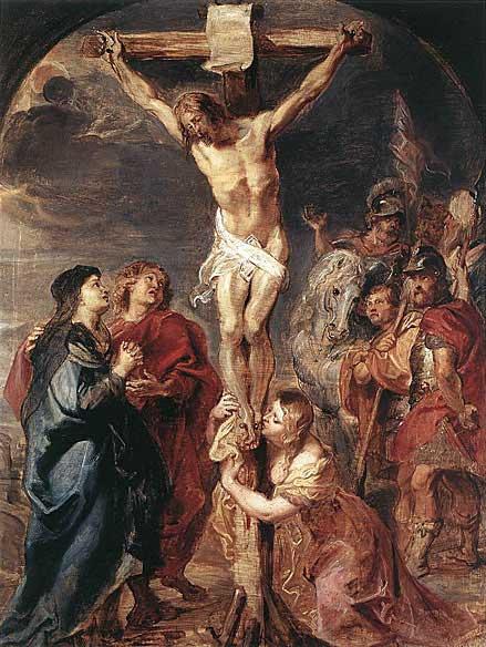 Cristo en la cruz de Rubens - 1627