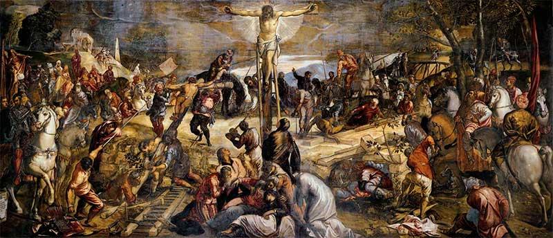 Crucifixión (Tintoretto, 1565)