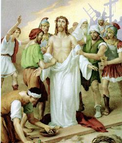 Jesús es despojado de Sus ropas.