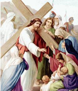 Jesús se encuentra con las mujeres de Jerusalén.