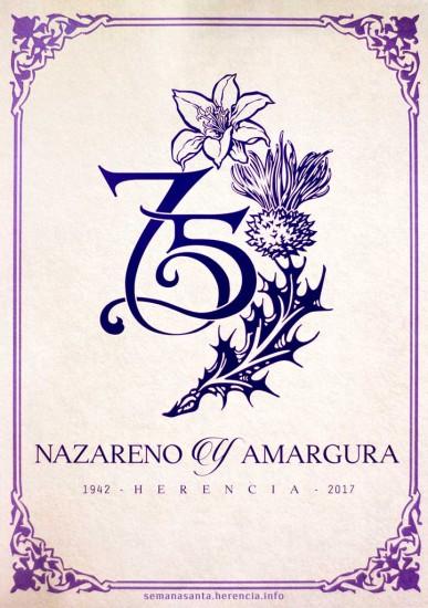 Logo oficial del 75 aniversario de la refundación de la Cofradía