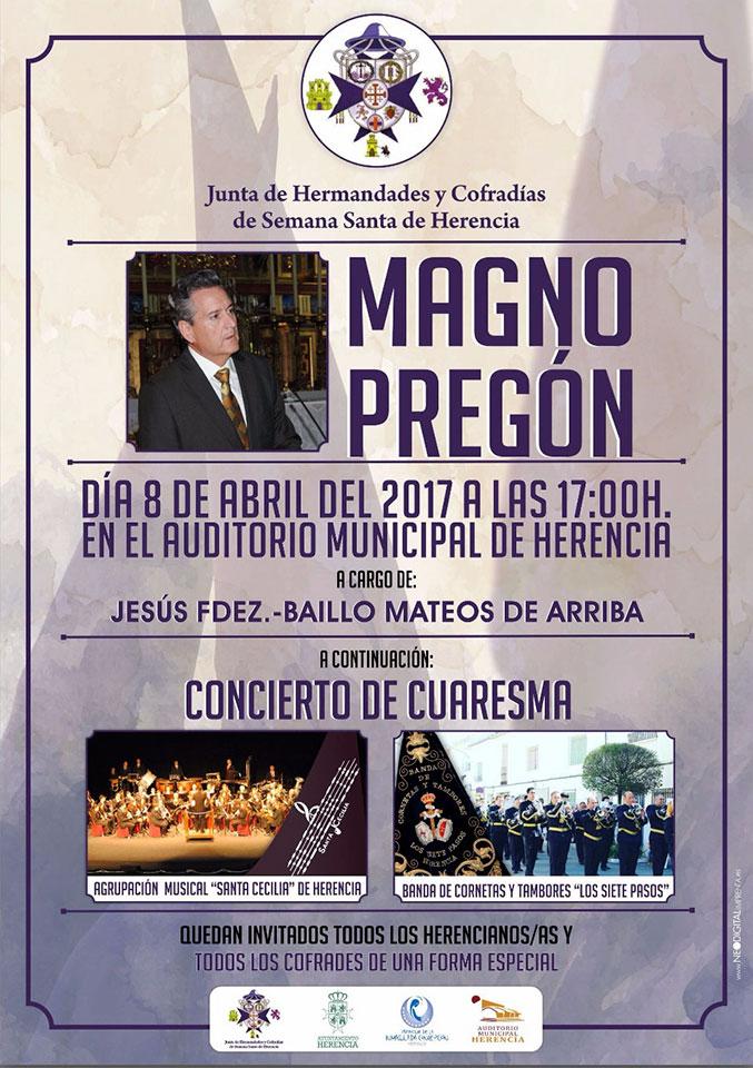 Magno Pregón de Semana Santa 2017 de Herencia