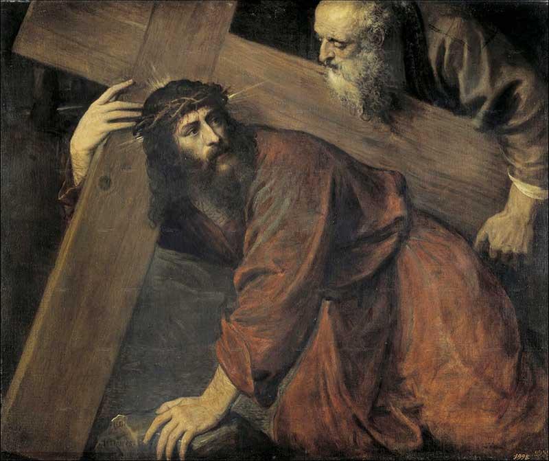 Cristo camino del Calvario de Tiziano (1560)
