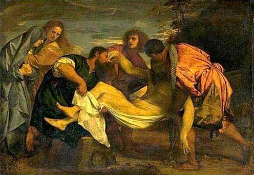 Traslado al Sepulcro de Nuestro Señor Jesucristo. Obra de Tiziano