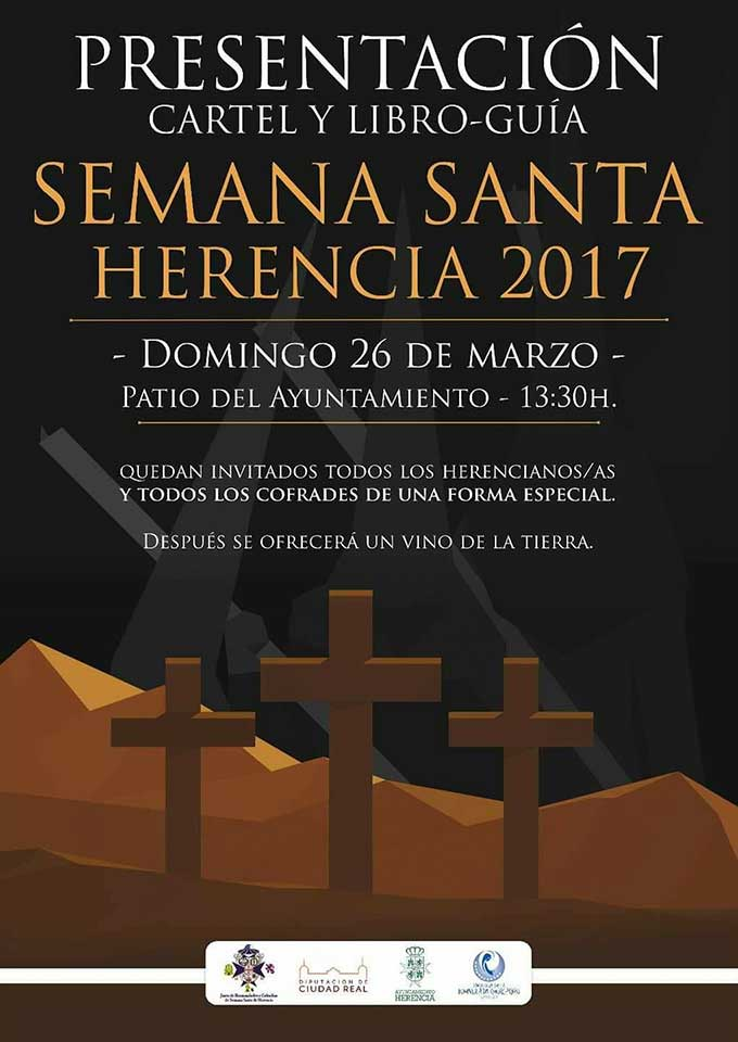 Presentación del libro-guía y cartel de la Semana Santa de Herencia